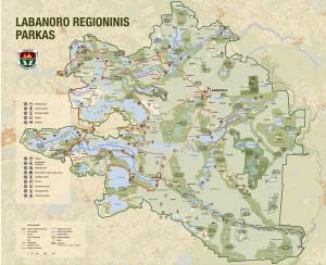 Labanoro regioninio parko zemelapis_mini