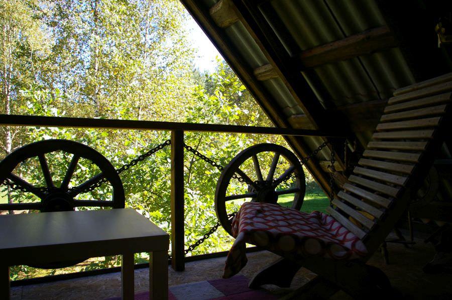 Pirtelė dviems - balkonas